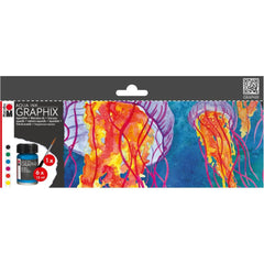 Marabu Aqua Ink MC Floaty 6 pack Assorted