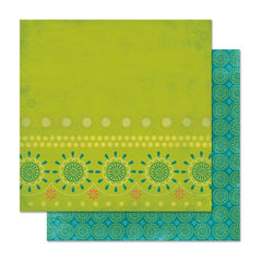 "Bo Bunny - Hello Sunshine Double-Sided Cardstock 12""X12"" Sweet Pea"