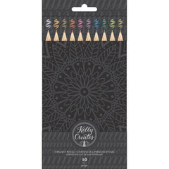 Kelly Creates Starlight Metallic Pencils 10 pack Assorted with Storage Tin