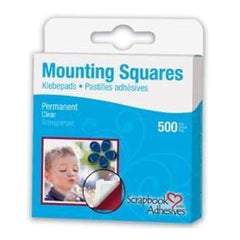 3L Mounting Squares Transparent - 500 Pack - Clear