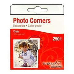 3L Photo Corners Pp Clear - 250 Pack - Clear