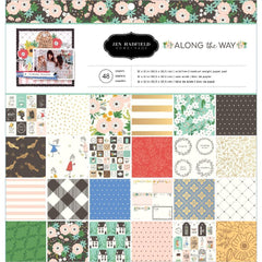 Pebbles  - Jen Hadfield - Single-Sided Paper Pad 12 inch X12 inch 48 pack - Along The Way, 24 Designs/2 Each