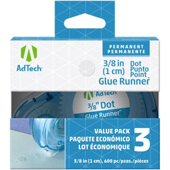 Ad-Tech Permanent Glue Dots 3 pack Clear .375 inch