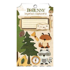 Bo Bunny Press - Camp A Lot - Layered Chipboard