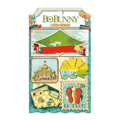 Bo Bunny Press - Key Lime - Layered Chipboard