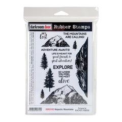 Darkroom Door - Cling Stamps 7.3X5.1in - Majestic Mountains