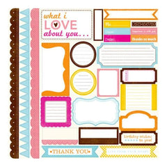Echo Park - Candy Shoppe Dots and Stripes - 12X12 Element Stickers