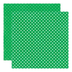 Echo Park - Essentials - Dots Primary - Grass Small Dots 12X12 Double-Sided Paper (Pack Of 10)