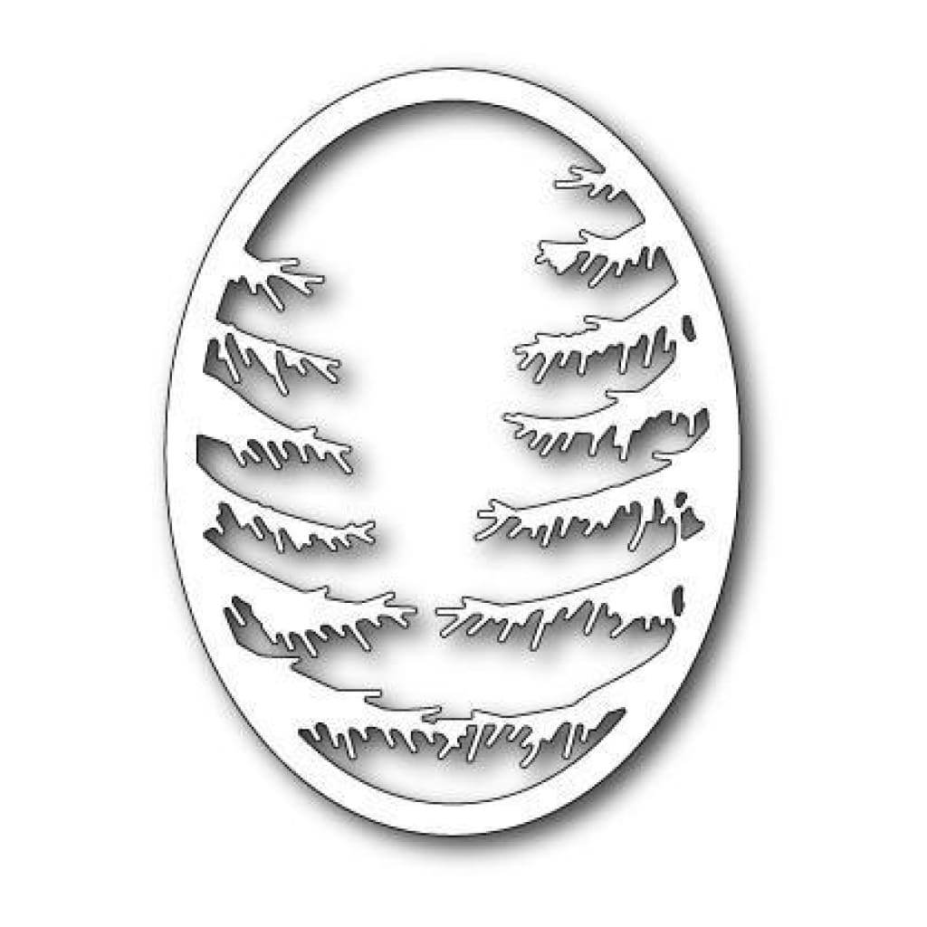 Memorybox - Pine Branch Oval Frame Die
