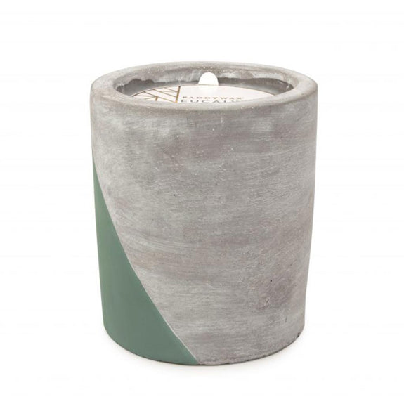 Concrete scented candle 'eucalyptus & santal' LARGE