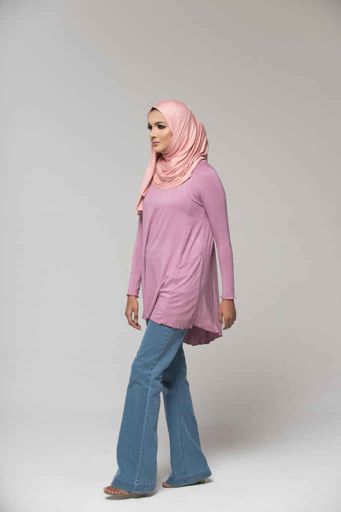 Lilac Cotton Blend top