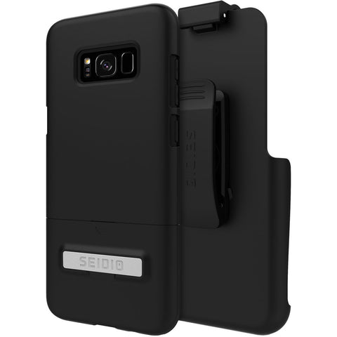Seidio Surface Samsung Galaxy S8+ Metal Kickstand And Holster Combo Case - Black