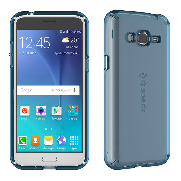 Speck Candyshell Clear Case For Samsung Galaxy J3 / J3V / Express Prime - Rainstorm Blue