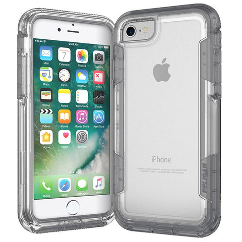 Pelican Apple iPhone 7 Voyager Rugged Case with Kickstand Holster - Clear / Clear