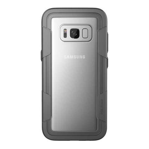 Pelican Voyager Case and Holster for Samsung Galaxy S8+ - Clear/Gray