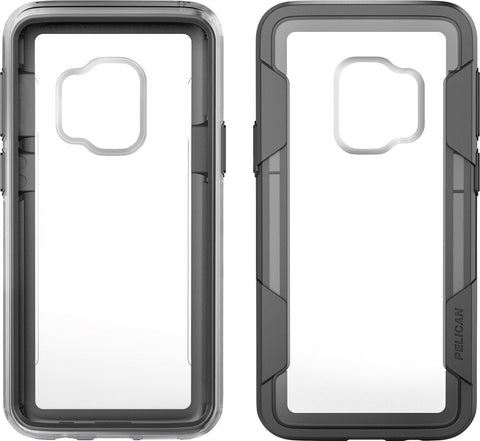 Pelican Voyager Case and Holster for Samsung Galaxy S9 - Clear/Gray