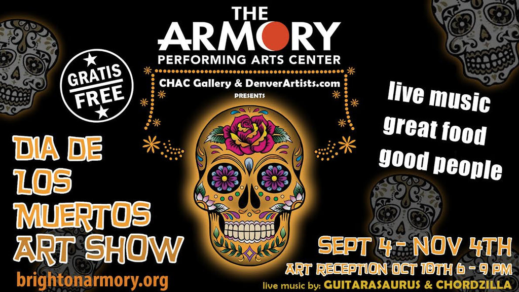 Art Show - Dia De Los Muertos at the Brighton Armory - September 2014