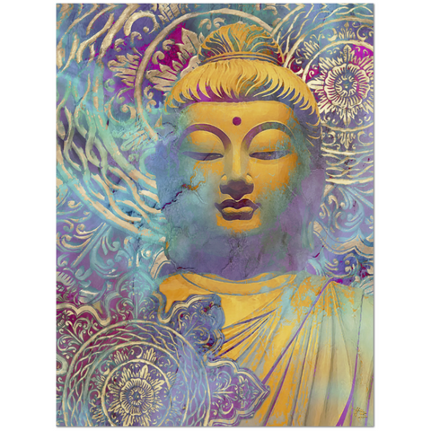 Colorful Buddha Art Canvas - Modern Zen Decor - The Light of Truth - Premium Canvas Gallery Wrap - Fusion Idol Arts - New Mexico Artist Christopher Beikmann