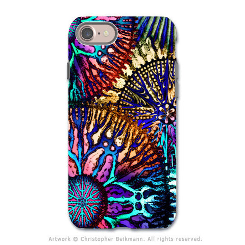 Colorful Abstract Coral - Artistic iPhone 8 Tough Case - Dual Layer Protection - Cosmic Star Coral - iPhone 8 Tough Case - Fusion Idol Arts - New Mexico Artist Christopher Beikmann