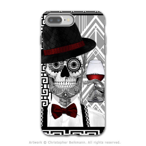 Art Deco Sugar Skull - Artistic iPhone 7 PLUS - 7s PLUS Tough Case - Dual Layer Protection - Mr JD Vanderbone - iPhone 7 Plus Tough Case - Fusion Idol Arts - New Mexico Artist Christopher Beikmann