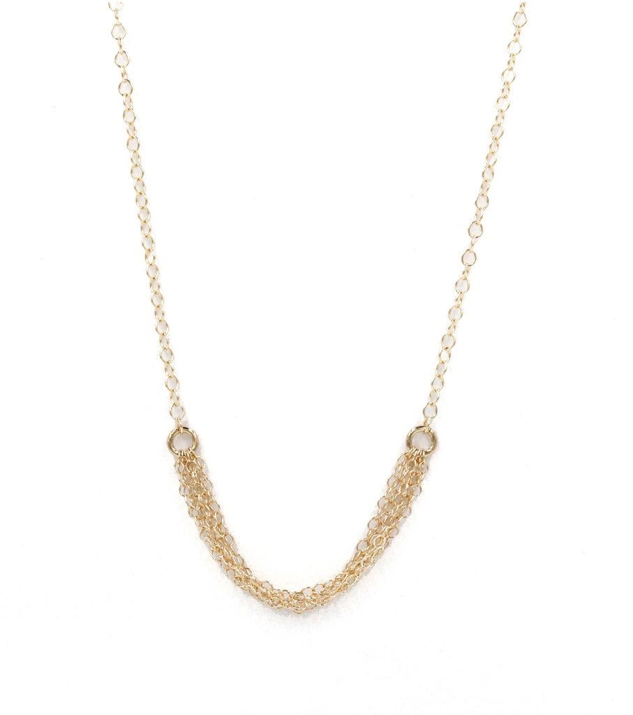Jennifer, 14kt Gold Filled or Sterling Silver Multiple Chain Necklace