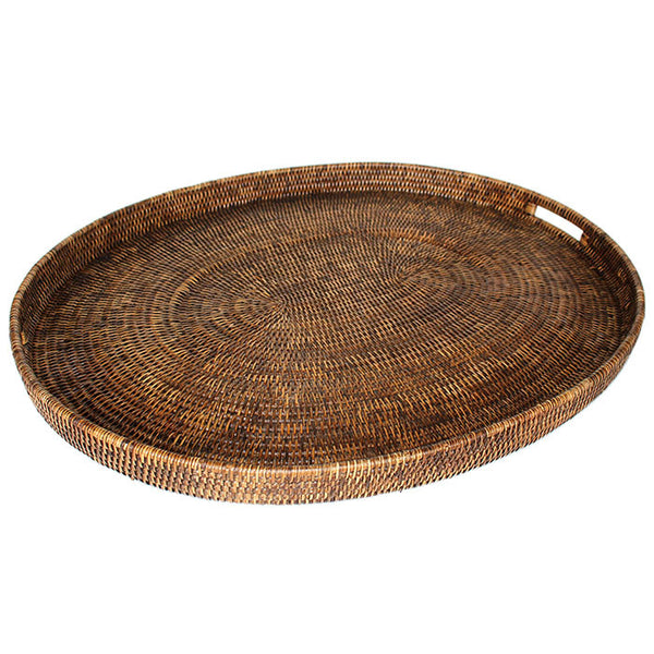 Oval Tray Antique Brown