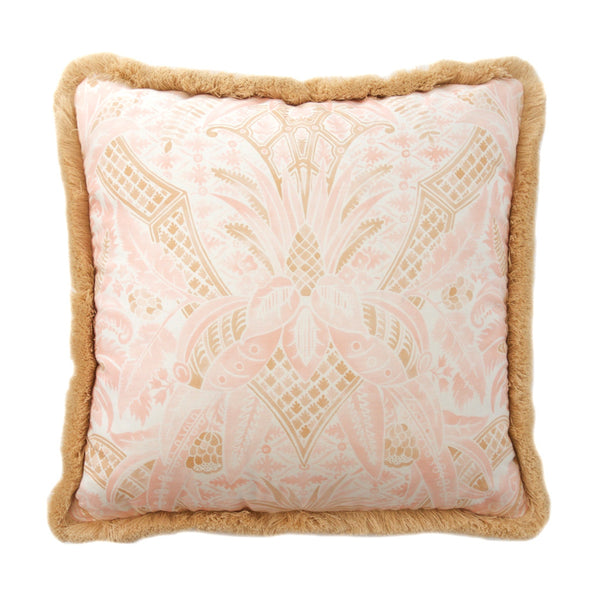 Soft Pink and Tan Pillow