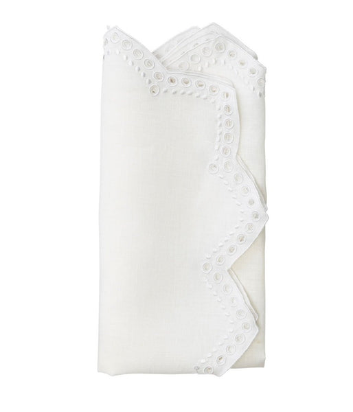Set of 4 Eyelet Tapestry Napkins