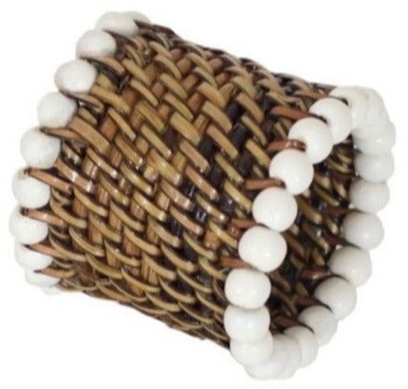 Napkin Ring with White Beads