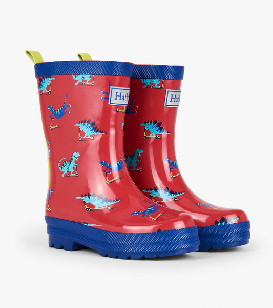 Scooting Dinos Rain Boots