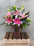 Lilies in Bloom July Vase Arrangement Special - Medium