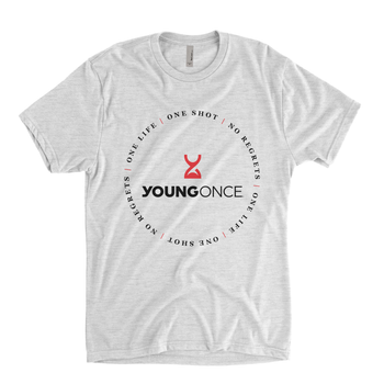 Young Once Circle Hourglass Tri-Blend T-Shirt Vintage White
