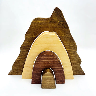 Stained Natural Mountain Learning Stacker