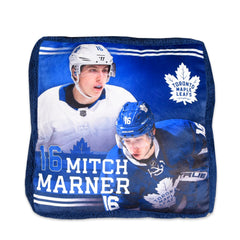 Maple Leafs Marner Jump Throw Pillow