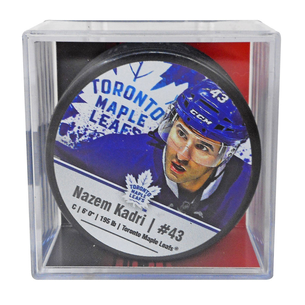 Maple Leafs Kadri Player Cube Puck