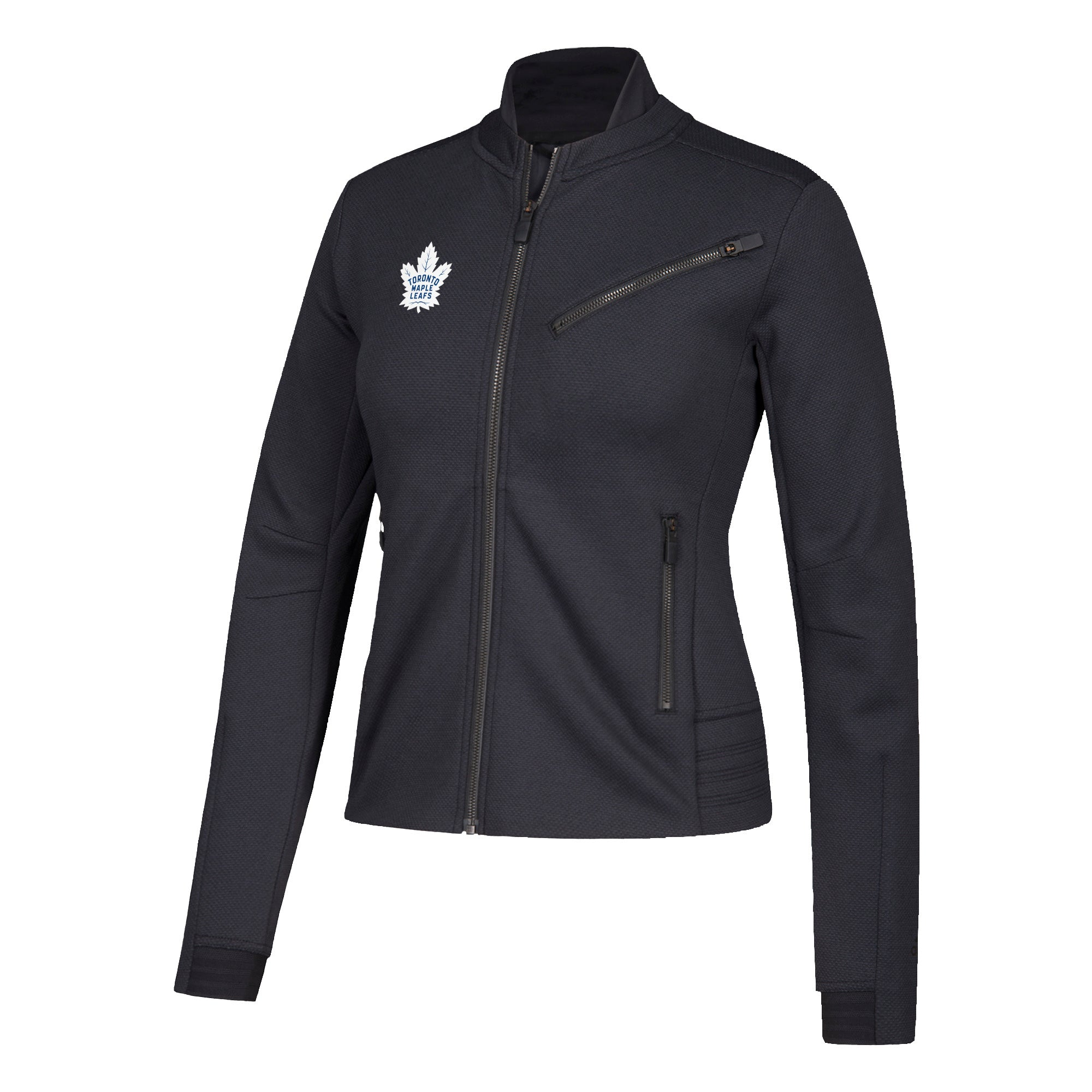Maple Leafs Adidas Ladies Moto Crew Jacket
