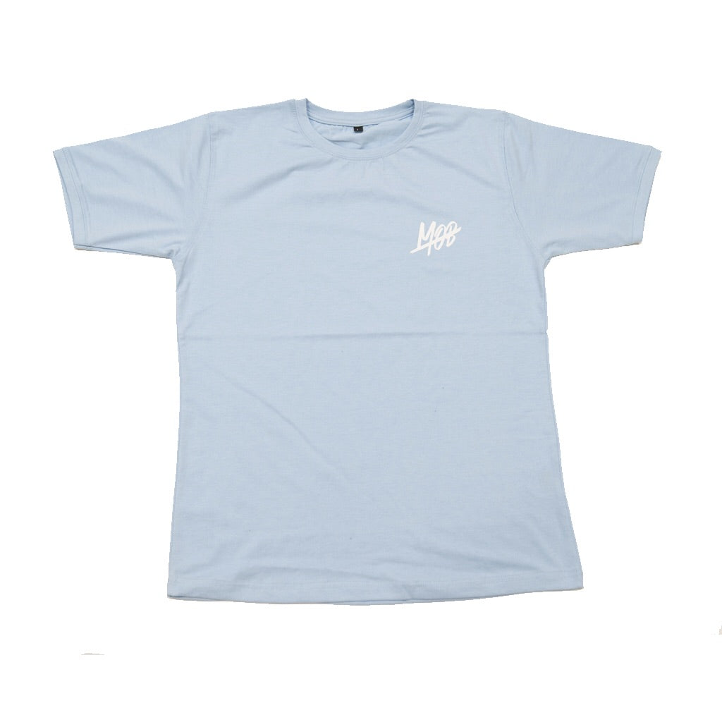 MOB SLASH TEE (baby blue) SLIM FIT