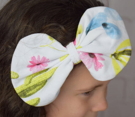 Butterfly Big Bow Cotton Headband