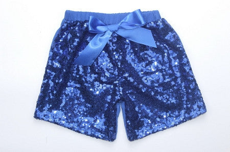 Sequin Shorts - Royal Blue - Gabskia