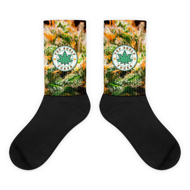 """Step Into the Clouds"" Black foot socks"