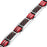 Men Titanium Four Element 3000 Gauss Magnetic Therapy Bracelet Featuring Red Carbon Fiber