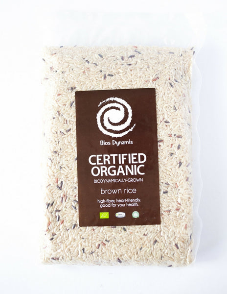 Certified Organic Biodynamic Brown Rice
