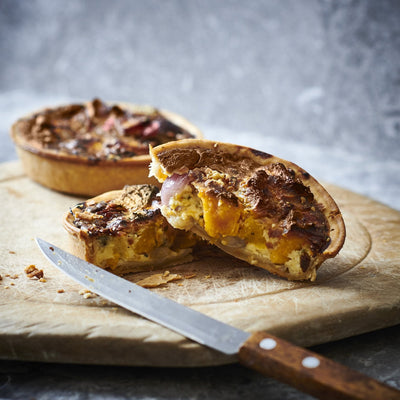 Butternut Squash, Red Onion and Blue Cheese Tart