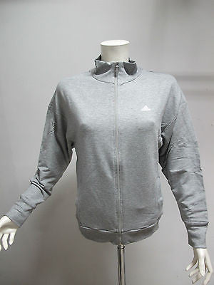 ADIDAS felpa donna con zip art.LP LUREX D04389 col.GRIGIO MEL. tg.48 estate 2014 - dodo.club