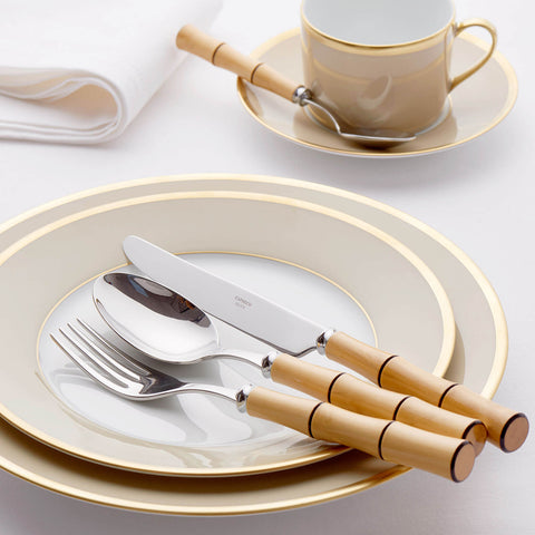CAPDECO Bamboo Flatware - Byblos Boxwood 4-Piece Cutlery Set