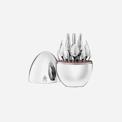 Christofle MOOD 24-Piece Silver Plated Cutlery Set -BONADEA