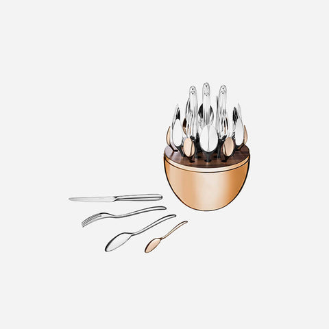 Christofle MOOD Rose Gold Cutlery Set -BONADEA