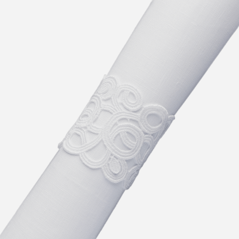 Weissfee Florence White Lace Napkin Ring