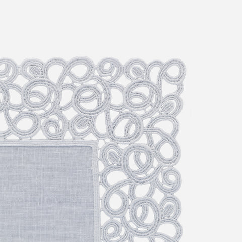 Florence White Lace Trim Placemat