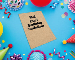 Flat Kraft Birthday Invitations